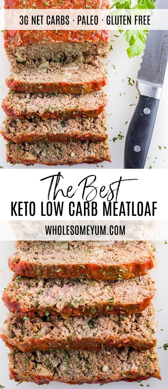 Paleo Keto Low Carb Meatloaf Recipe