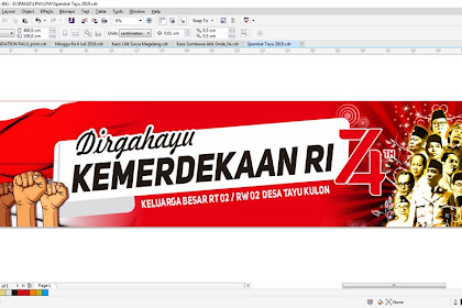 Contoh Banner 17 Agustus 2019 Cdr