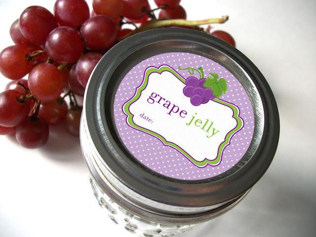 Cute Grape Jelly Mason Jar Labels