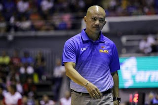 Coach Yeng Guiao walking in the court