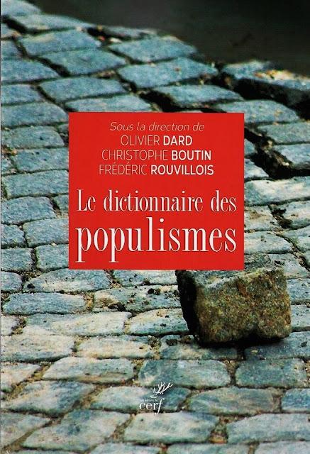 Le Dictionnaire des populismes, éditions du Cerf