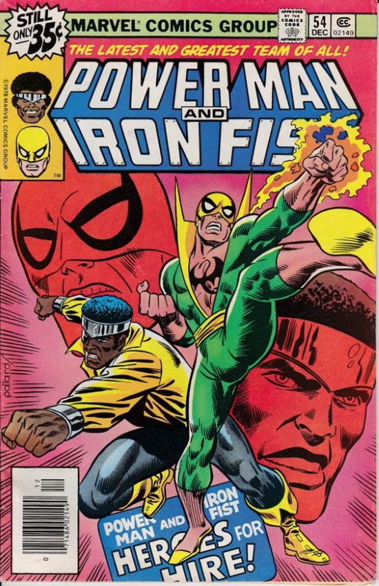 Portada de Power Man & Iron Fist #54, obra de Keith Pollard