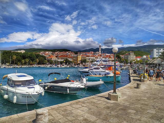 Selce widok na miasteczko w Chorwacji