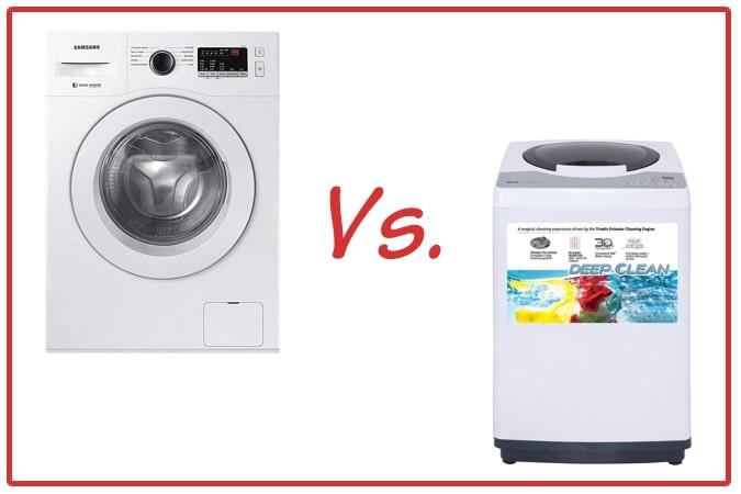 Samsung WW65R20GLSW/TL (left) and IFB REW (right) Washing Machine Comparison.
