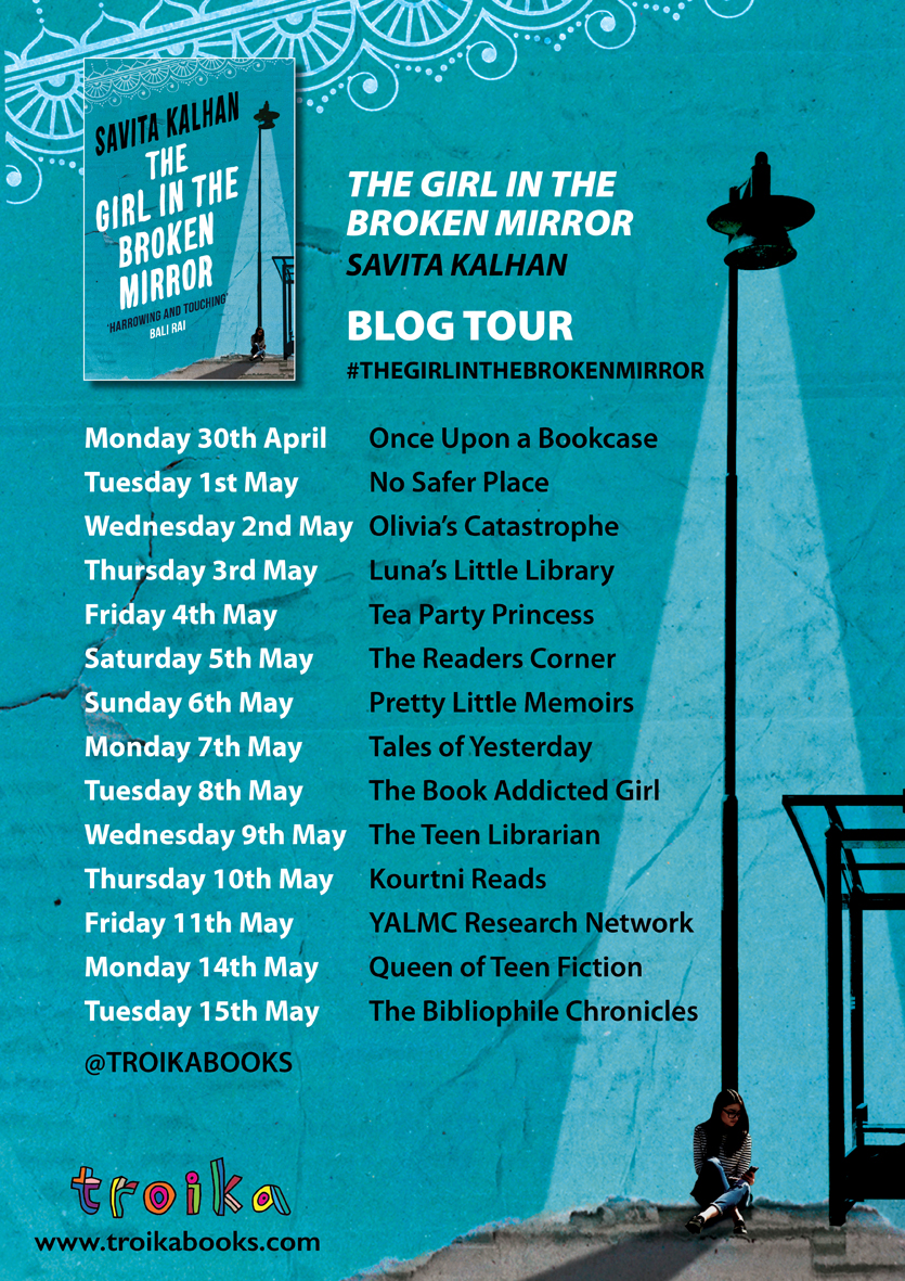 The Girl in the Broken Mirror by Salvita Kalhan Blog Tour Banner