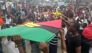 Thousands Of IPOB Storm Aba, Onitsha, Protest Over Killings Of Biafrans (Video)