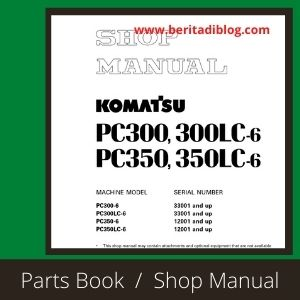 Komatsu pc300-6 pc300lc-6 shop manual excavator