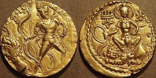 coins of Chandragupta II - Chandragupta Vikramaditya