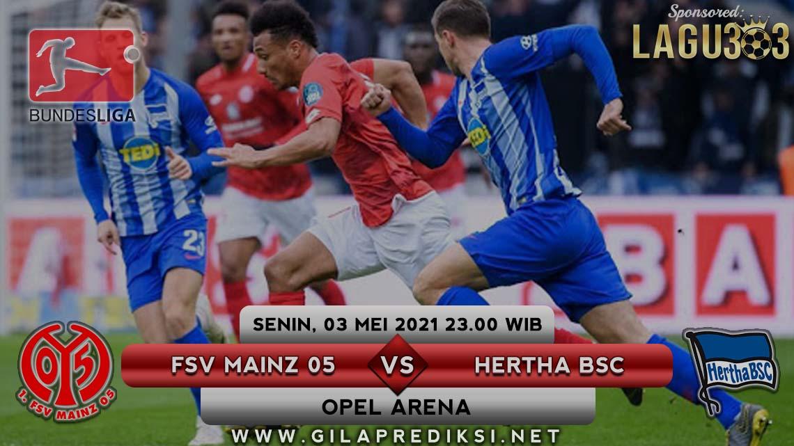 Prediksi Sepak Bola antara FSV Mainz 05 vs Hertha BSC Tanggal 3 Mei 2021, Hari Senin pukul 23.00 WIB