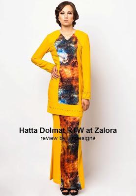 baju kurung modern peplum slim fit artis terkini