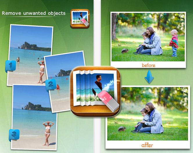 Photo Eraser讓你擦掉照片上的路人、瑕疵和雜物