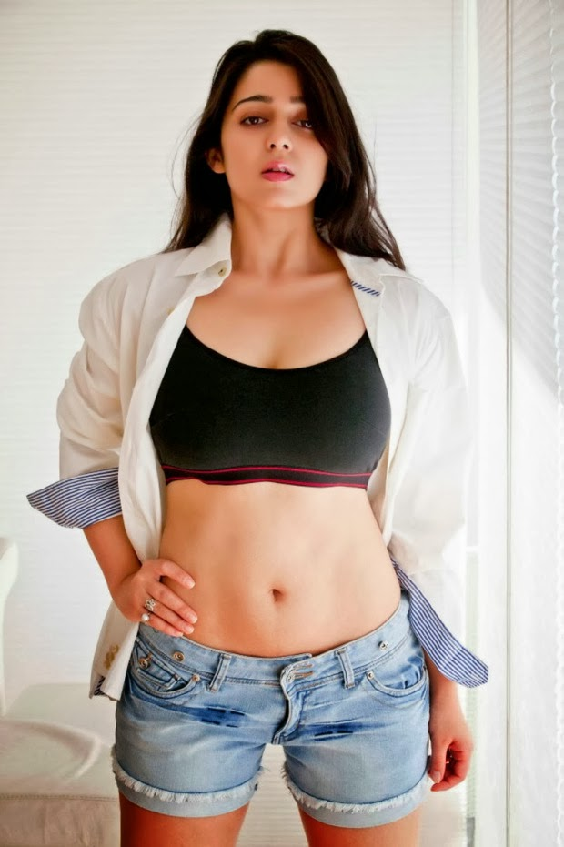 Charmi Kaur Latest Spicy Hot PhotoShoot Gallery Stills.