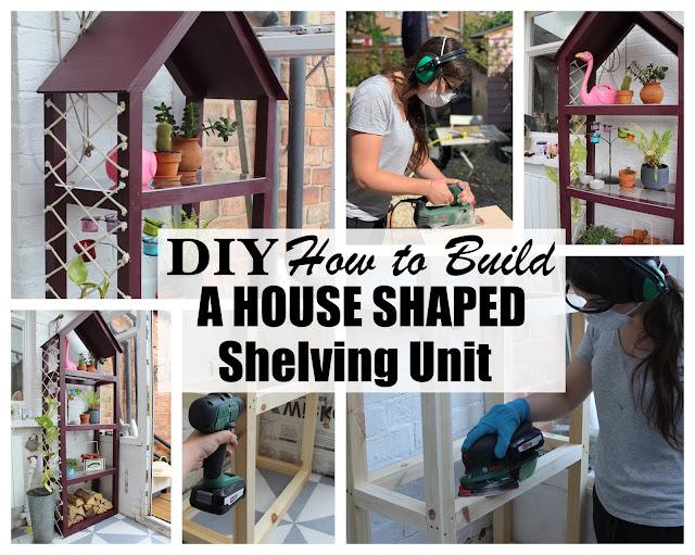 DIY House Bookcase Shelving