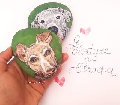 sassi dipinti prezzi cani ritratti