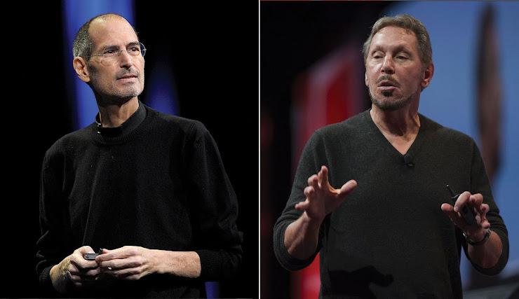 Larry Ellison y Steve Jobs