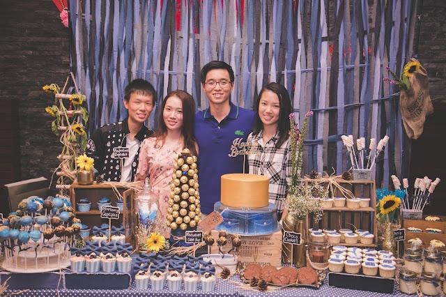 blue theme desserts