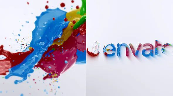 Liquid Color Splash Logo animation after effects