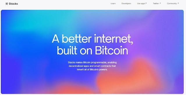 Screenshot Halaman Website Stacks (STX) Cryptocurrency