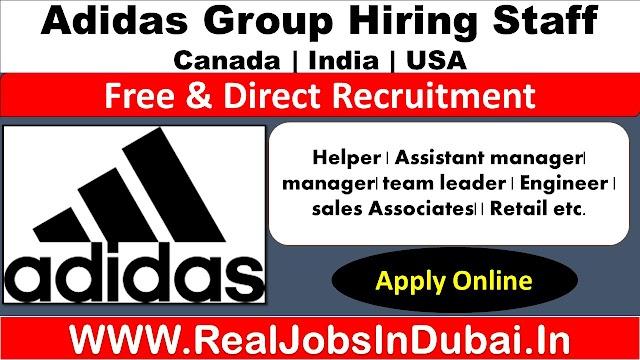 Adidas Jobs In Canada , USA & India -2020