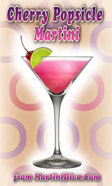 Cherry Popsicle Martini Cocktail Recipe