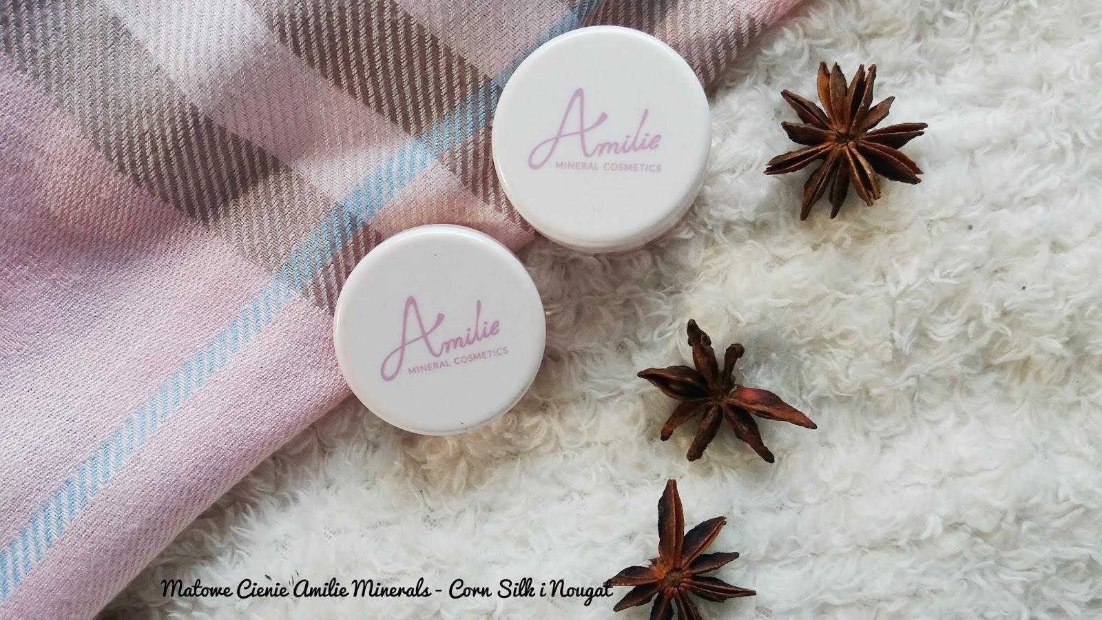 Matowe cienie Amilie Minerals - Nougat i Corn Silk