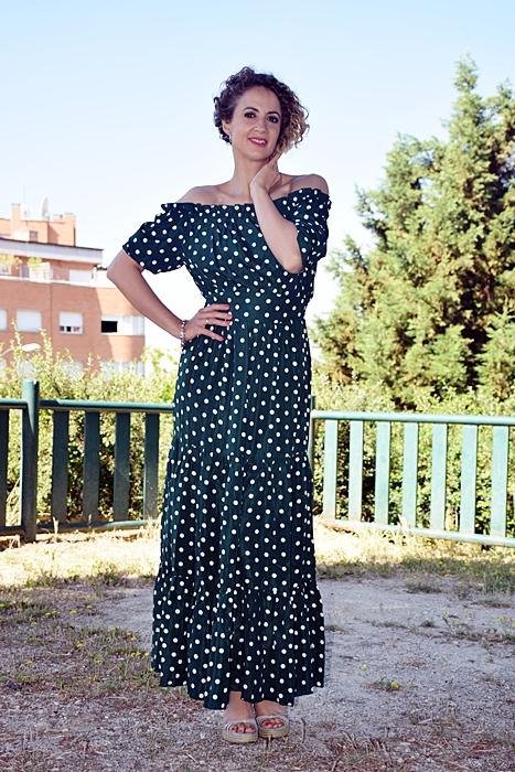 Outfit-Vestido-largo-verde-lunares-2