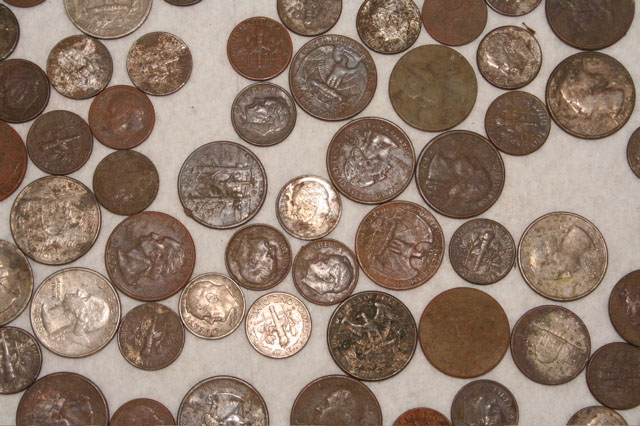 Cleaning coins