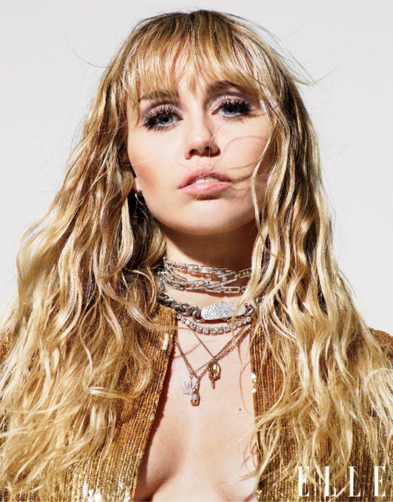 Miley Cyrus wears Celine cardigan and Messika Paris choker
