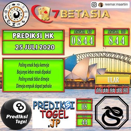 Prediksi Bet7asia HK Sabtu 25 Juli 2020