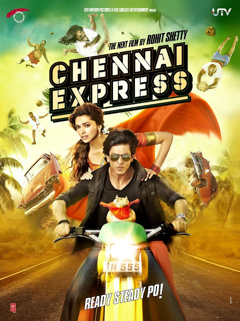 First Look Posters Srk-Deepika's Chennai Express Movie