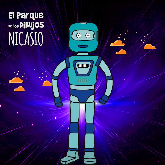 El robot Nicasio de Planeta Pomelo, serie exclusiva de El Parque de los Dibujos