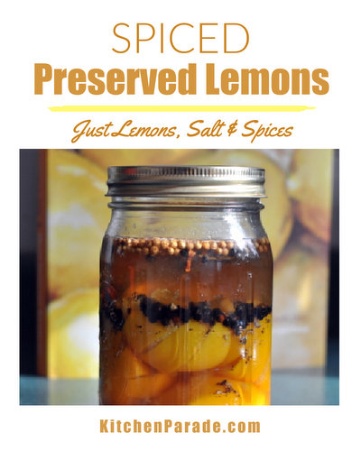 Spiced Preserved Lemons ♥ KitchenParade.com, just lemons, salt and pantry spices, the cornerstone ingredient in Moroccan cuisine.