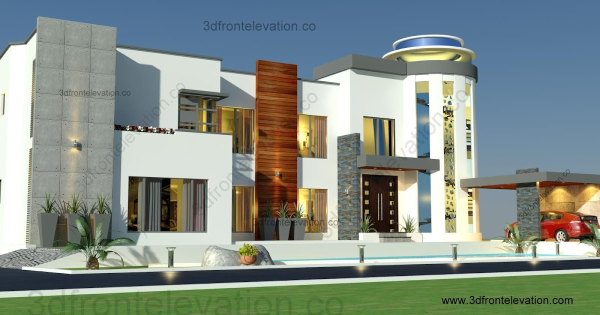 Front Elevation G 2 : D front elevation kanal house design