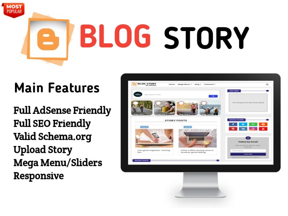 Blog Story Blogger Template - Responsive Blogger Template