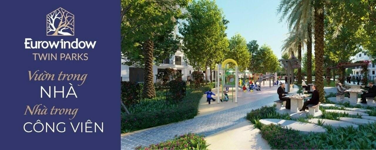 Không gian xanh là giá trị nổi trội tại Eurowindow Twin Parks.