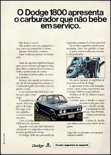 propaganda Dodge 1800 - 1975, Dodge Dart 1975, chrysler anos 70, carro antigo chrysler, anos 70, década de 70, propaganda anos 70, Oswaldo Hernandez,