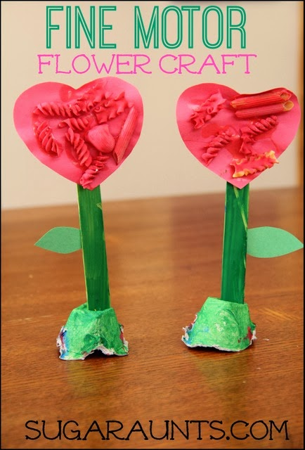 Kids will practice fine motor skills when creating this spring flower
