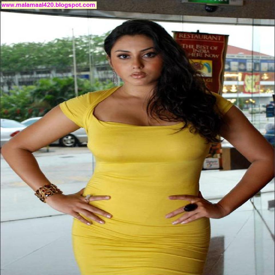 Mallu Aunty Namitha Hot In Yellow Bikini  Navel Hot -6835