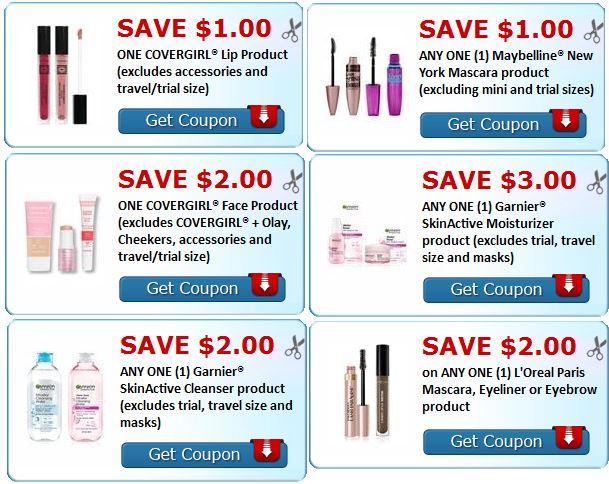 covergirl-loreal-maybelline-makeup-garnier-print-coupons