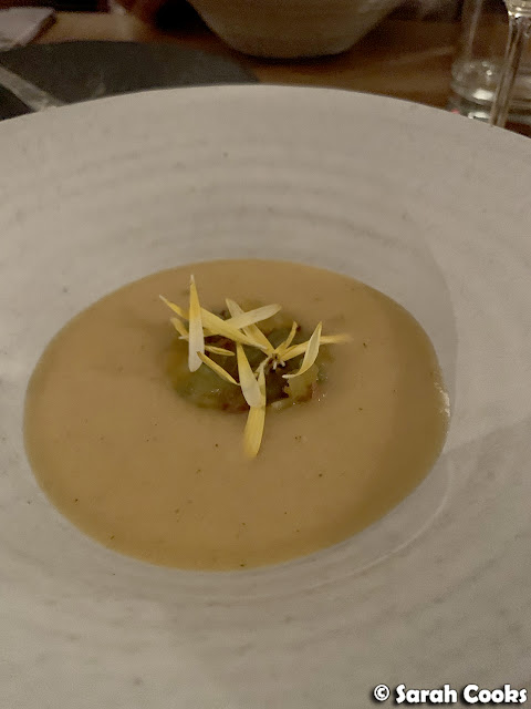 Stonefruit gazpacho with pepper and almond
