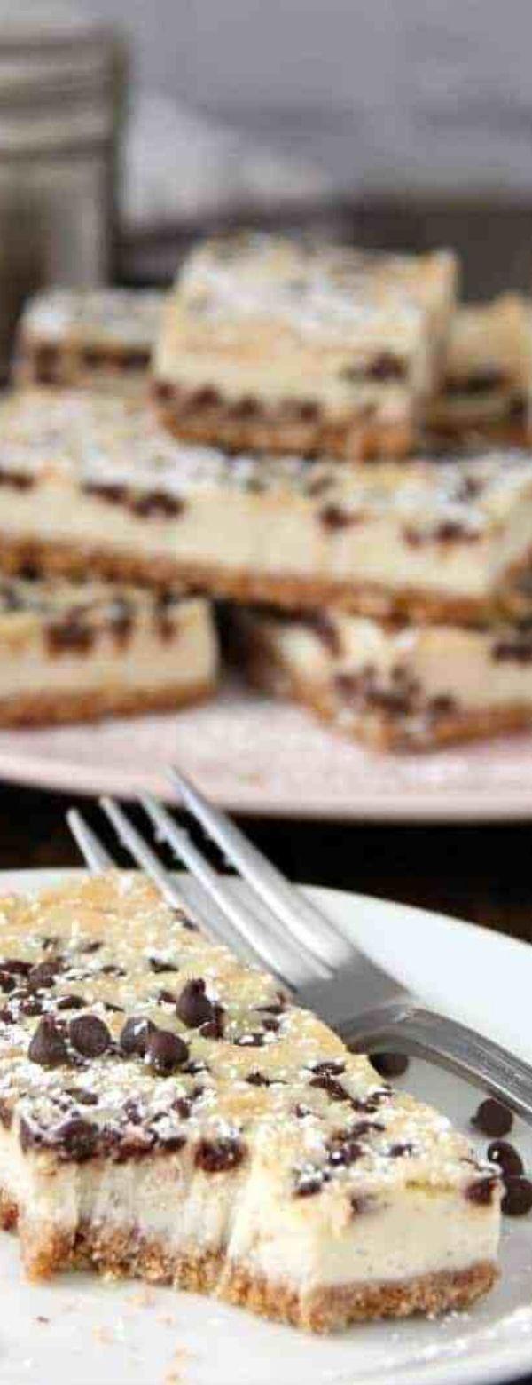Cannoli Cheesecake Bars