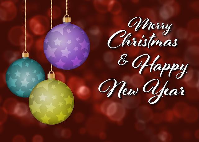 Wishing Merry Christmas and Happy New Year