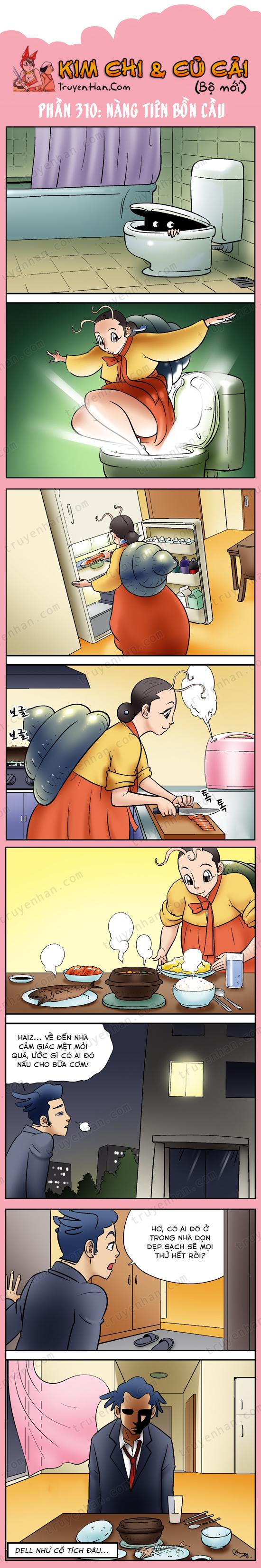 Kim Chi & Củ Cải (bộ mới) phần 310: Nàng tiên bồn cầu