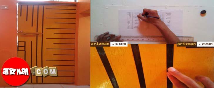 Ide Kreatif Selotip Washi Tape Untuk Dekorasi Pintu