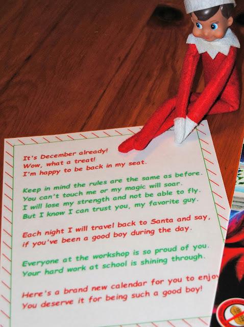 Elf Shelf Letter Santa