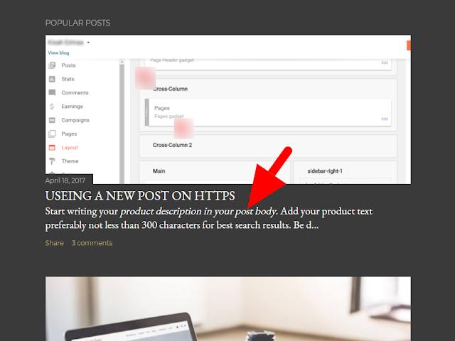 Blogger soho theme add popular post snippets