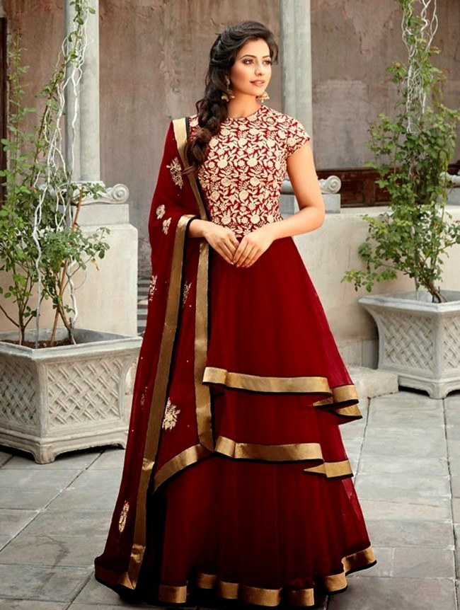 New Stylish Designer Anarkali Suits 2017 Dresses Pattern
