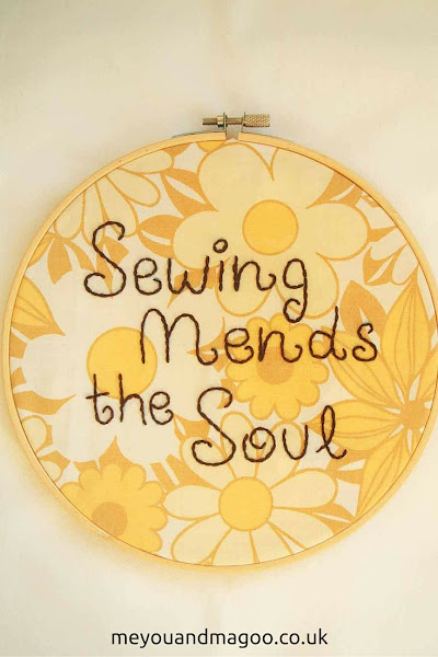 sewing mends the soul, hand sewn, embroidery, quote, hoop, vintage, fabric, sewing, text, handwriting