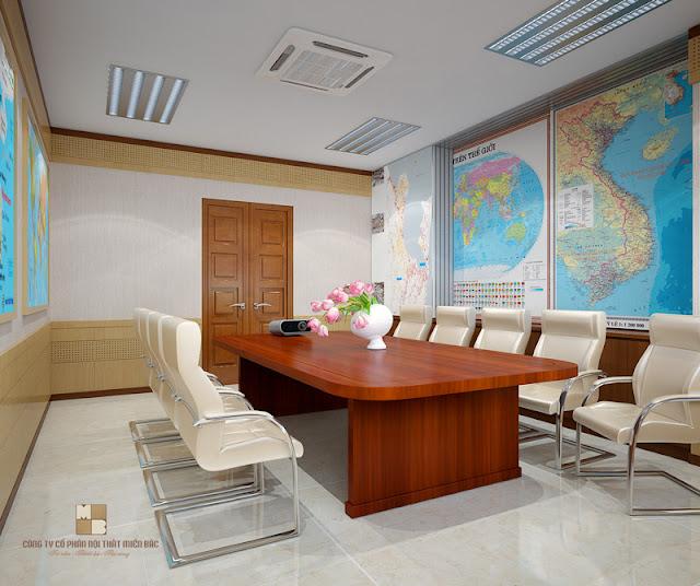 Mẫu bàn làm việc văn phòng này với mặt bàn rộng và các góc được bo tròn giúp mọi người sử dụng thoải mái hơn