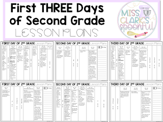 First three days of second grade lesson plans